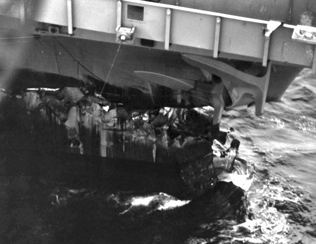 USS Ranger Collision Photos