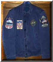 Bob's Navy issue 'Blue Jacket'  Gayle says the jacket is about worn out, but he still wore it even the week he died.