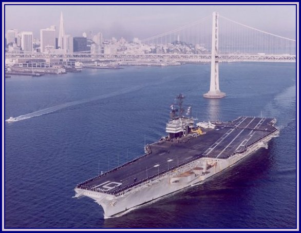 SAN FRANCISCO BAY THE USS RANGER RETURNING FROM WESTPAC 1974