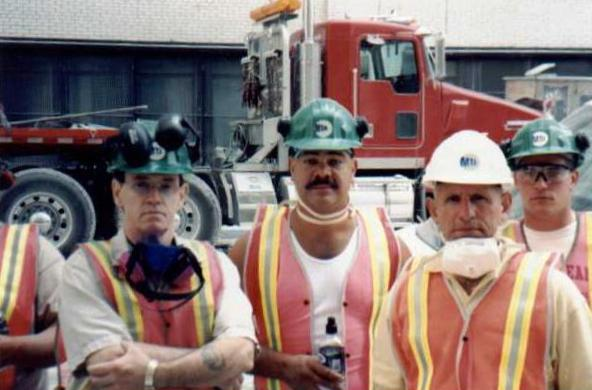 Me on the left. This is the most recent photo of myself. This was taken at the clean up of the World Trade center,back in september 11, 2001
