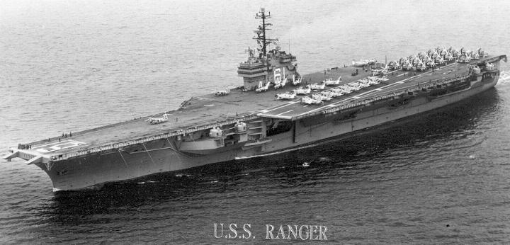 USS RANGER 1958 PHOTOS