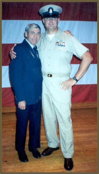 James Weaver and James Jr. who is a Chief Petty Officer on active duty in the United States Navy